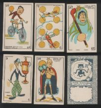 Flick- type book playing cards include Charlie Chaplin
